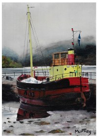 Puffer Boat Inveraray, Loch fyne, Scottish Print