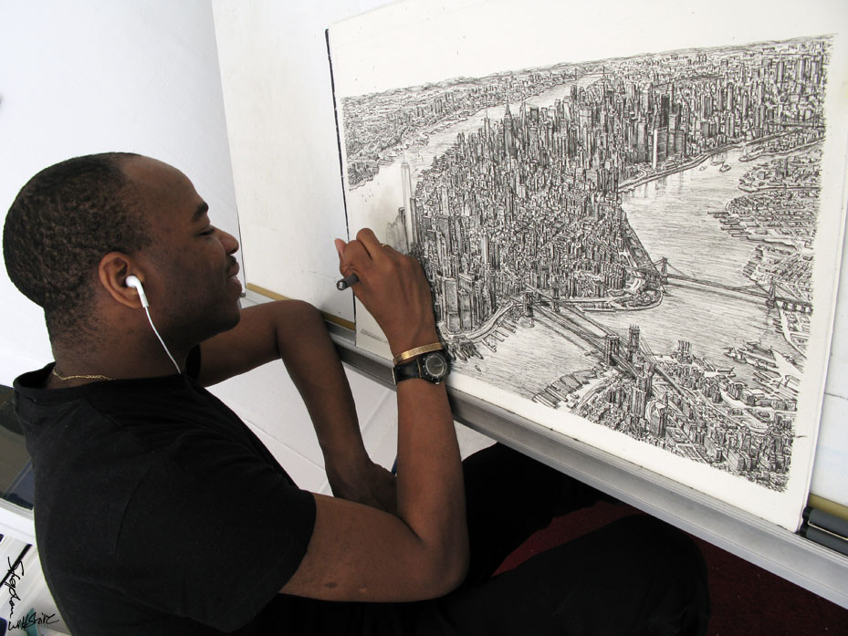 Drawing Manhattan in my studio - The Stephen Wiltshire Image Library - Photo Album