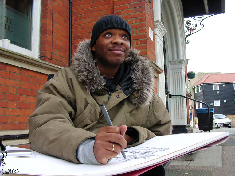 Drawing Waltham Abbey - The Stephen Wiltshire Image Library - Photo Album