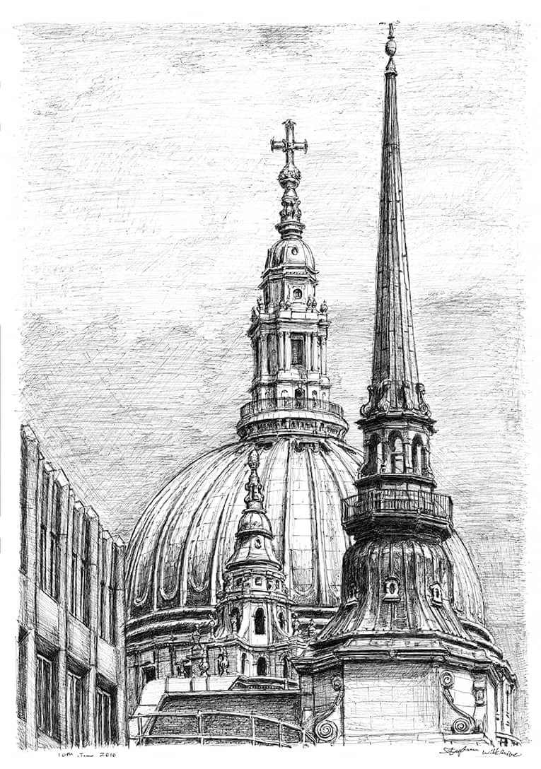architectural drawings of famous buildings. The Drawing Above, Entitled Dome Of St Paul\u0027s Cathedral, Was Exclusively Created For An Exhibition Celebrating 300th Anniversary In 2011 London\u0027s Architectural Drawings Famous Buildings