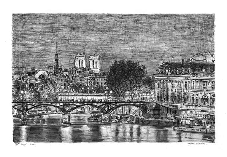 Paris at night - drawings and paintings by Stephen Wiltshire MBE