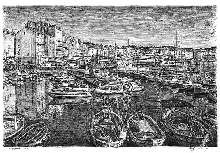 Saint Tropez - drawings and paintings by Stephen Wiltshire MBE