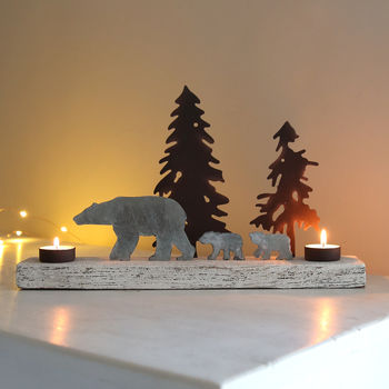 notonthehighstree-polar-snowscape-tealight-holder