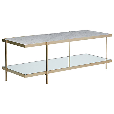 marble and glass coffee table - john lewis