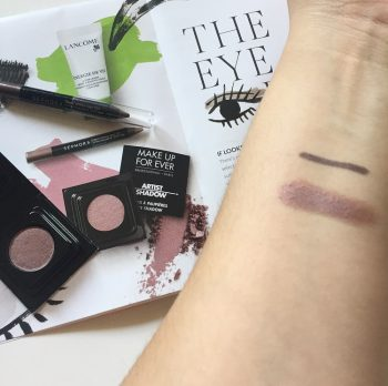 MUFE Artist Shadow and Sephora Contour Eye Pencil