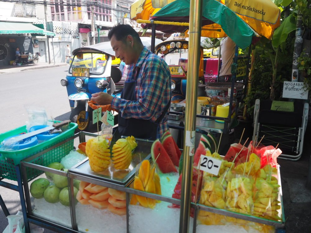 Fruit vendor near Khao San Road