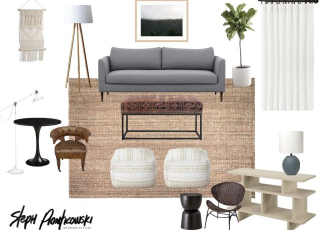 Living Room Moodboard by Steph Piontkowski Interiors
