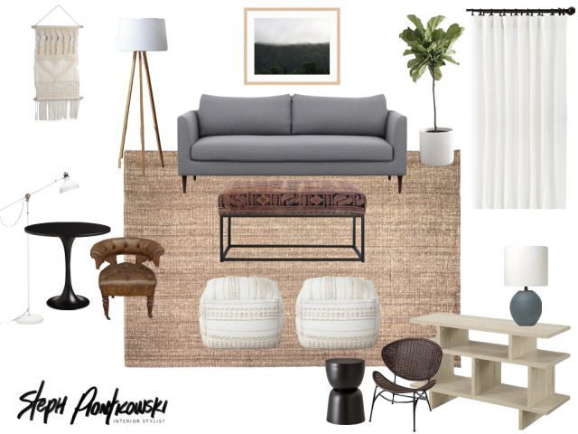 Living Room Moodboard by Steph Piontkowski Interiors