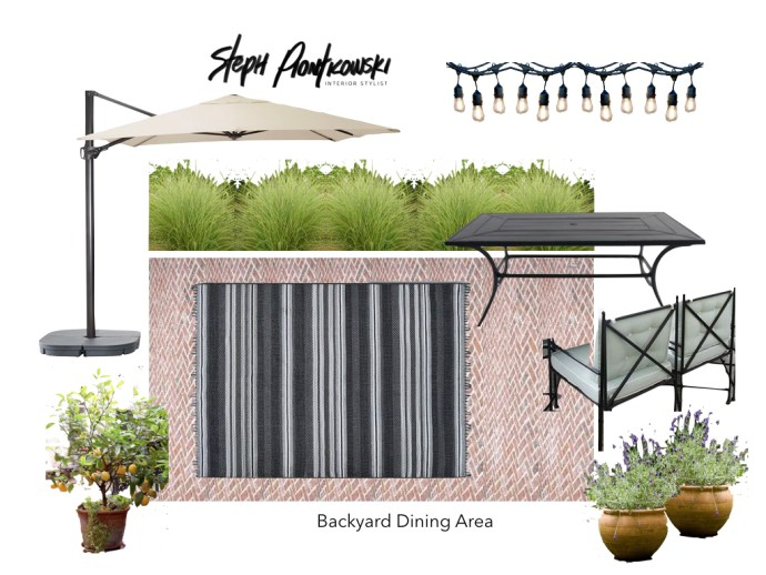 Outdoor Dining Vision Board by Steph Piontkowski Interiors