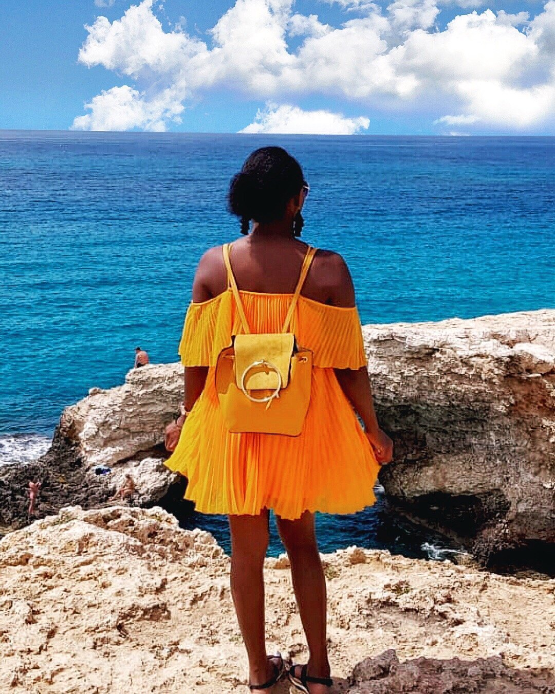 Stephylately overlooking the Mediterranean sea