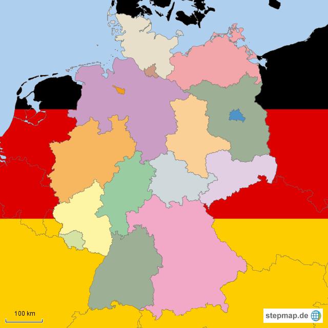 Stepmap Bundesländer Leer Landkarte Für Deutschland