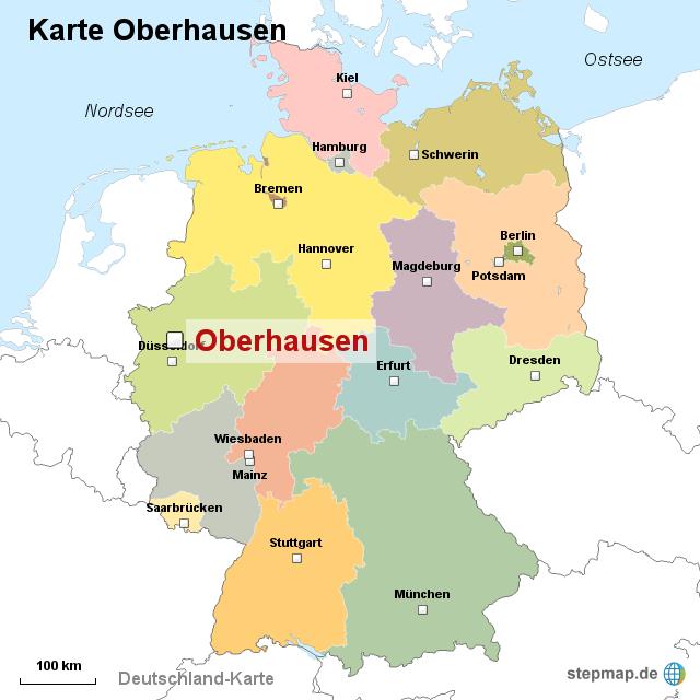 Billedresultat for  oberhausen map