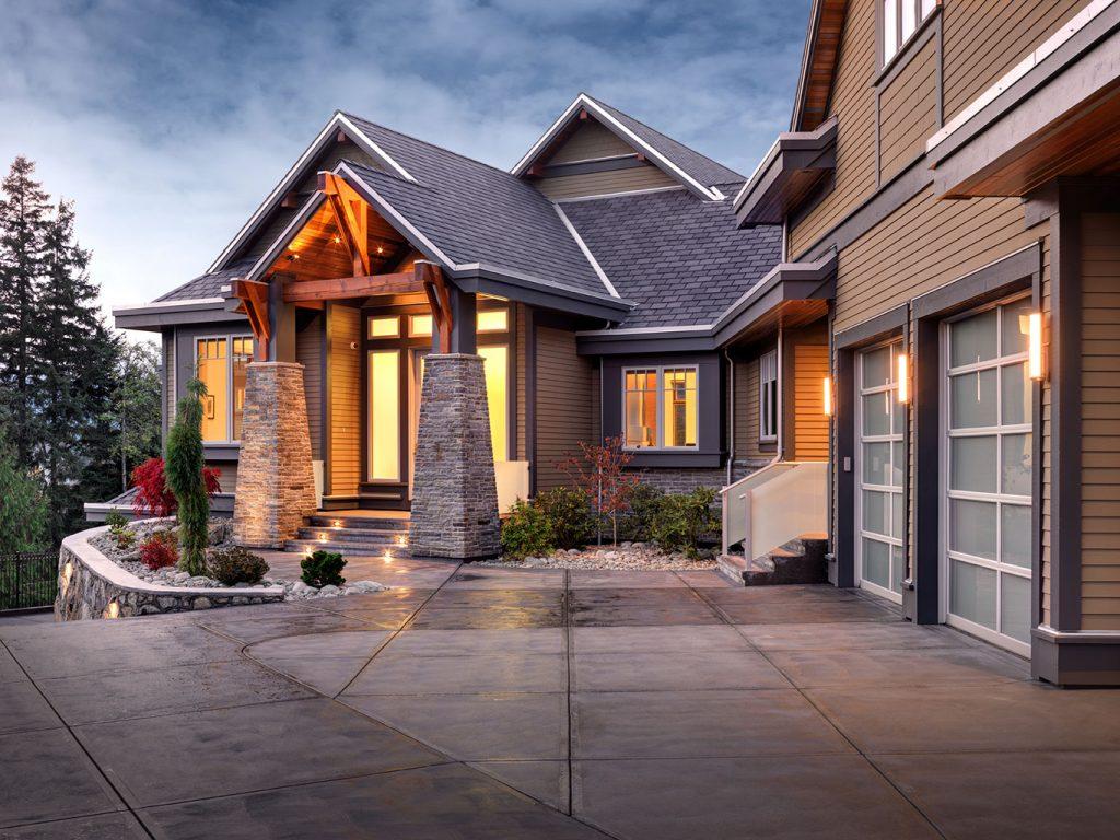 Modern Traditional Custom Home Design  Bearspaw  Step One Design