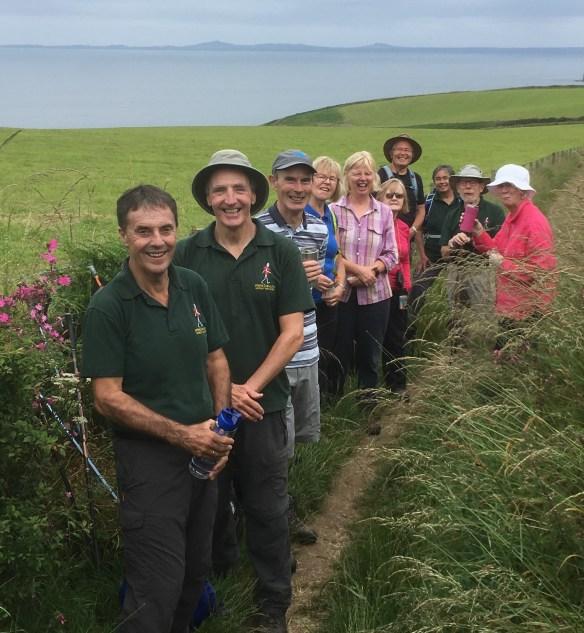 Nordic Walkers near Marloes