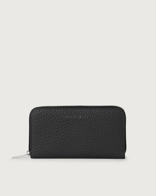 ORCIANI – Portafoglio pelle soft navy e RFID