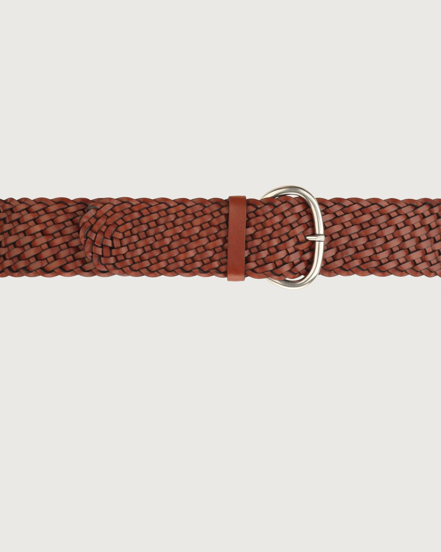ORCIANI - Cintura alta intrecciata Masculine in cuoio