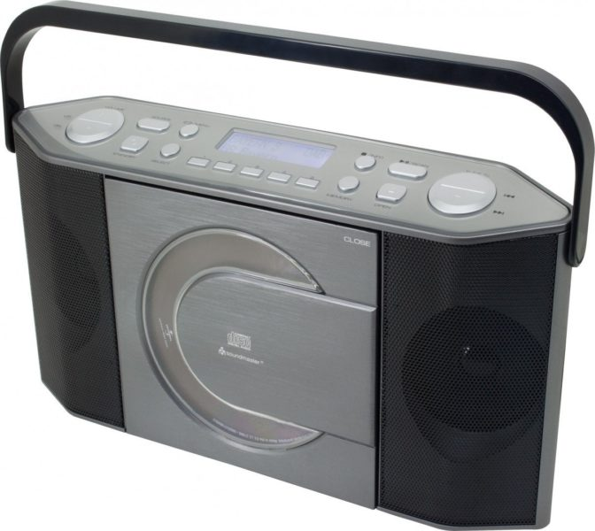 Tragbares Wiederaufladbares Radio, CD-Player, DAB +