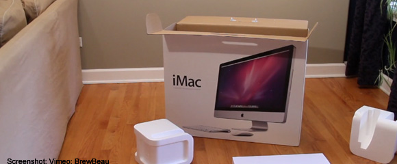 imac-unboxing iMac 27 Zoll Core i7 Unboxing der etwas anderen Art - beinahe ein Porno Apple Web YouTube Videos