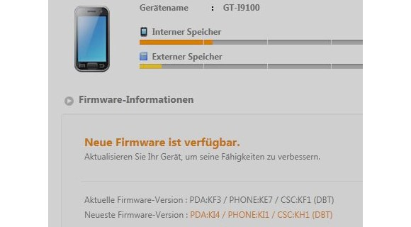 SGSII-Android-234 Samsung Galaxy SII - Android 2.3.4 Firmware-Update steht via Kies bereit Google Android Samsung Samsung Galaxy S2 GT-I9100 Smartphones Software