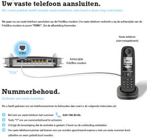 Uw vaste telefoon aansluiten met nummerhoud bij Fiber
