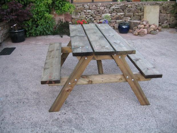 Our new picnic table