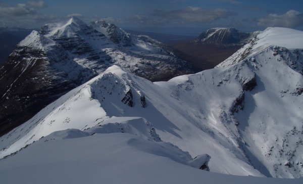 Looking west along the Beinn Eighe main ridge
