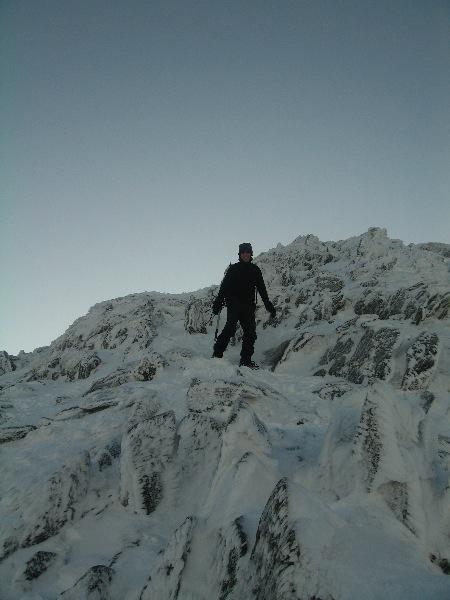 Coming down Swirral Edge