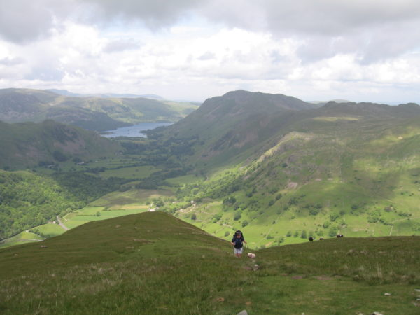 Heading up onto Hartsop Dodd