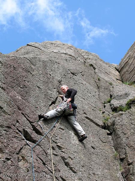 Ian at Black Crag