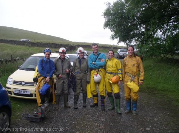 The intrepid cavers before the trip