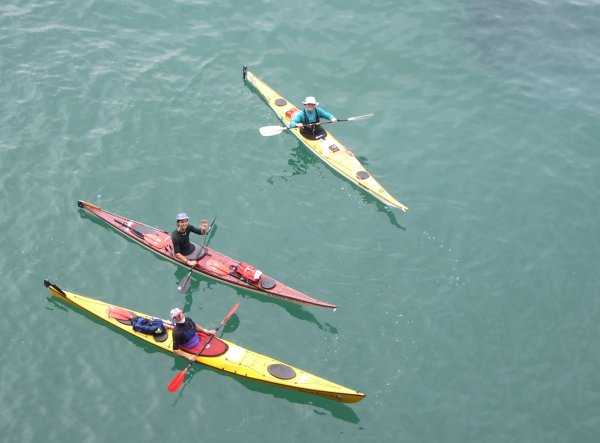 Happy paddlers