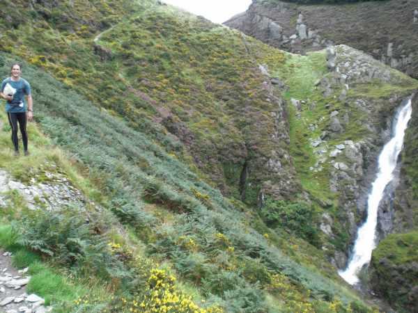 Richard and waterfall