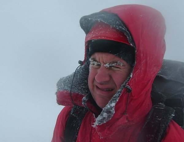 Matt 'enjoying' the summit views! Classic...