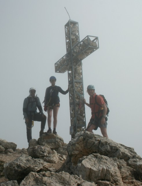 Dave, Rachel and I at the summit of Roda de Vael.