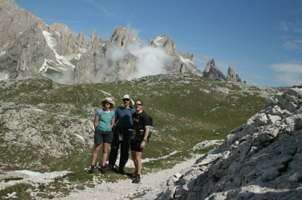Rachel, Dave and I on the way North from Rifugio Rosetta.