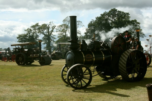 Steam engines at the Rally.