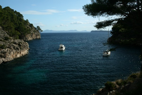 A peaceful cove on the Formentor Peninsula.