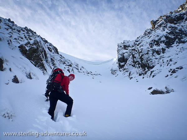 bowfell buttress south gully