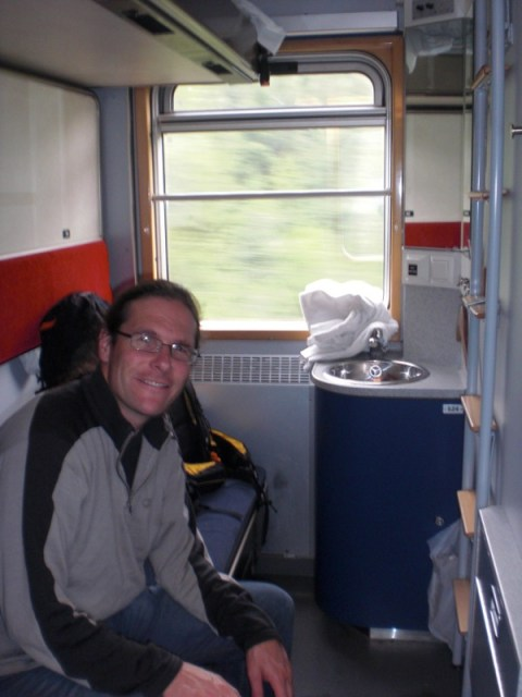 On the sleeper train from Stockholm to Narvik.