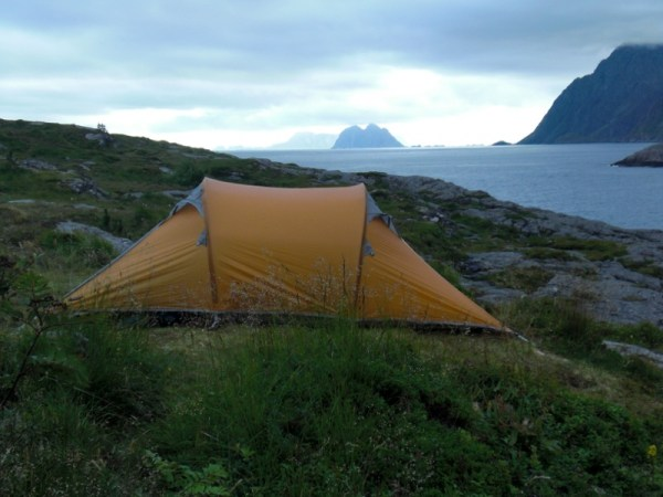 Our tent at the lovely campsite in Å.