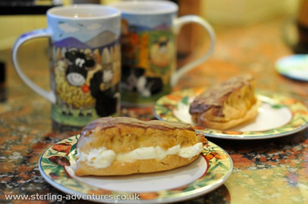A reward - tea and hoome-made chocolate eclairs!  :yum: