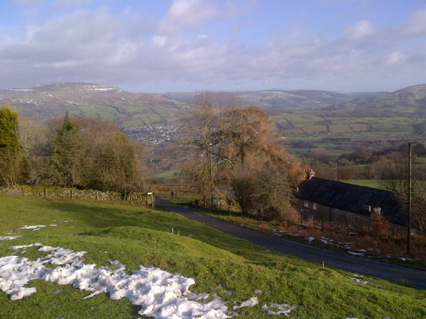 The view from Whitewalls without snow