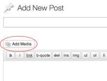 "Step 1 - click the ""Add Media"" button."