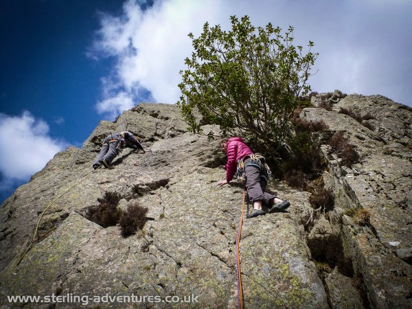Laetitia on Slab Climb