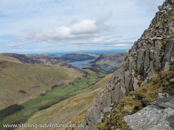Looking back towards Ullswater from the start of Pinnacle Ridge