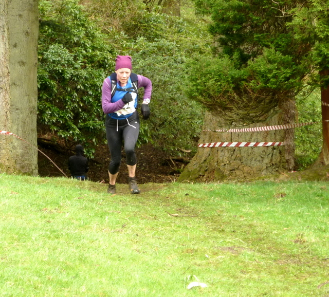 Anna powers up the finish hill....