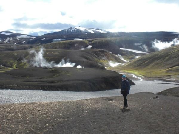 Hot springs on the way back to Landmannalaugar.