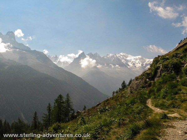 The view across to Mont Blanc from Cheserys