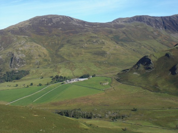 Looking down to the head of Buttermere (and the field we were supposed to camp in during the cancelled OMM of 2008) from Scarth Gap.