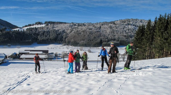 Setting off for a ski tour up the Spieβhorn in the Black Forest